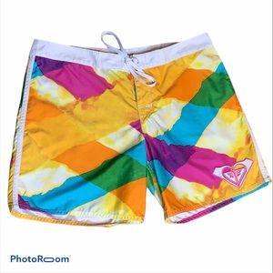Roxy Swim trunks size Juniors 11 colorful